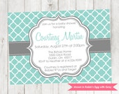 Modern Baby Shower Invitation - Printable Shower Invitation - Colors Customizable
