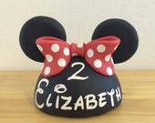 Forever to keep - 6 Inches wide-Pink, Hot Pink, or Red Inspired Minnie Mouse Cake Topper (also available  in Mickey Mouse Style)