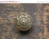 Reserved for Yvon Antique Ornate Brass Drawer Pull Single Knob (32 are available) 1900's or late 1800's Furniture knobs Vintage