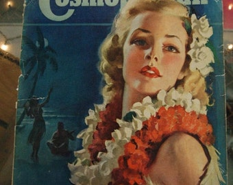 Hearst's International Cosmopolitan Magazine Cover March 1937 or 1939 Cover only. Frame it or Decoupage it.