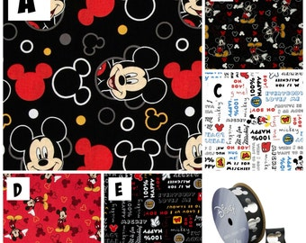 Crib Sheet Mickey Mouse Crib or Toddler Bed Fitted Sheet Lola's Lovies handmade baby bedding