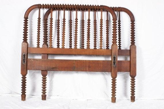 Antique Twin Size Jenny Lind Spool Bed Headboard Footboard