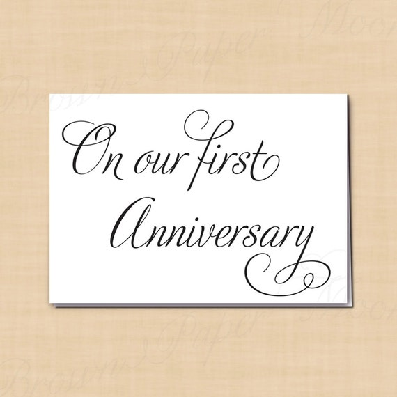 On our first anniversary printable card for by brownpapermoon