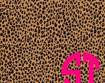 Cheetah Print printed Vinyl or HTV to use in vinyl cutter..You choose size 6x6, 8.5x11, 12x12, 12x24 or 12x36