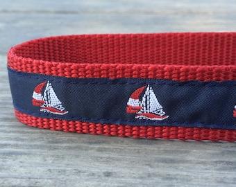 Sailboat dog collar 1 in wide
