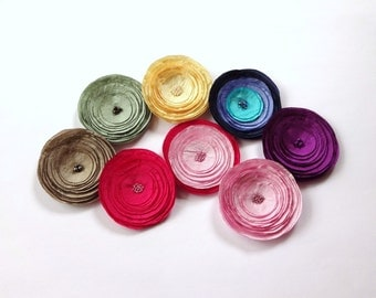 Choose Your Pink, Yellow, Celadon Green, Plum Purple, Taupe, Black, White Hair Pin, Hair Clip or Brooch
