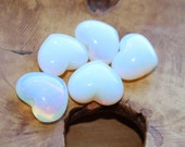 Opalite Puffy Shaped Heart H65