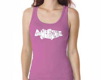 Women's Tank Top - Bass - Gone Fishing