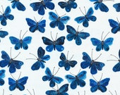 Cloud9 Moody Blues butterly fabric - organic cotton print - 1/2 YD