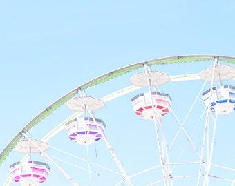Carnival Ferris Wheel Blue Sky 8x10 DIGITAL Print
