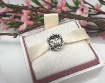 Authentic Pandora Primrose open work Charm For Bracelet BEAUTIFUL