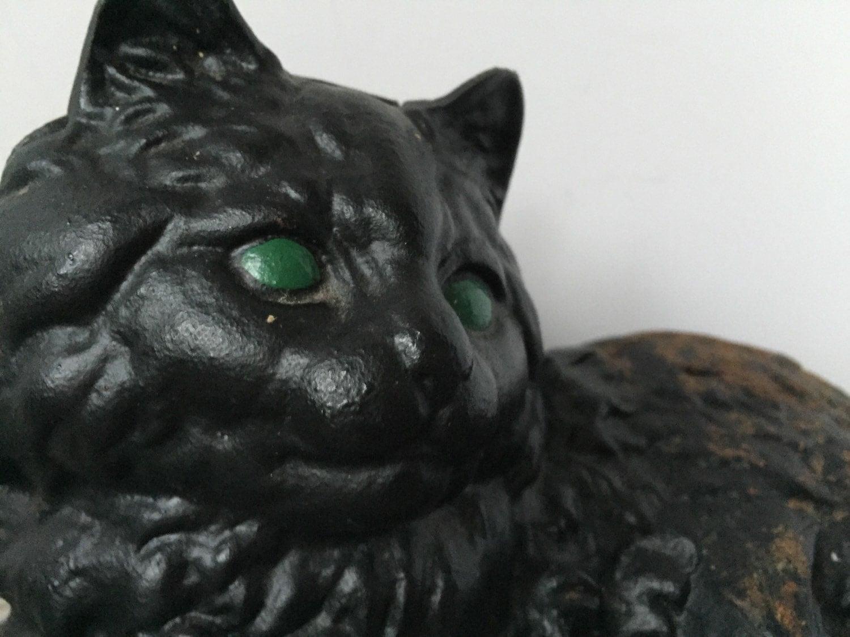 Cast iron black cat doorstop garden cat rusty garden decor - Cast iron cat doorstop ...