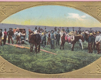 """Ca 1909 """"The Gathering"""" Rochester Mills, PA Topographical Picture Postcard - 2124"""