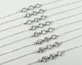 Bridal Bracelet,Crystal Bracelet,Wedding Jewelry Bridesmaid Jewelry,Bridesmaid Bracelet,Bridesmaids Gift,Sterling Silver, Bridal Jewelry