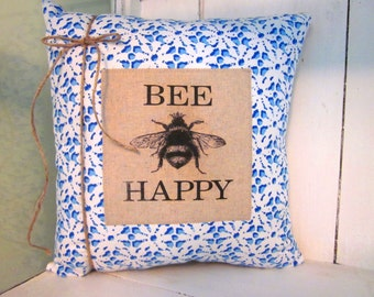 50% CLEARANCE SALE Decorative pillows, bees, bee decor, decorative pillows,farmhouse decor, animal decor, rustic decor, rustic pillows, bee