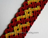 celtic braid bracelet in red and gold