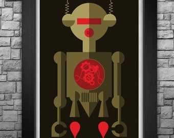 "ROBOT ""Z-001"" limited edition art print. Available in 3 sizes!"