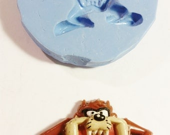Medium, Tasmanian devil, TAZ, SILICONE Mold - resin, polymer clay, metal clay,  mold, soap mold, flexible 3D mould Hot Glue Mold