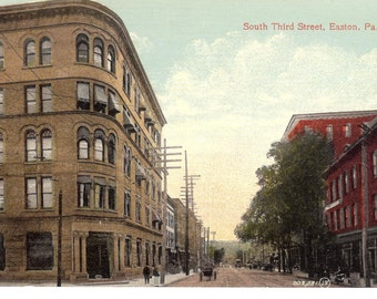 Vintage Postcard....South Third Street, Easton, PA...Unused...no.2021