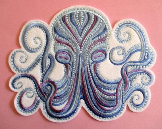 Items Similar To Jumbo Embroidered Sea Creature Octopus