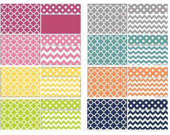 Custom Baby Crib Bedding Set - Fitted Sheet, Custom Bumper, Crib Skirt- Basic Quatrefoil Chevron Dot