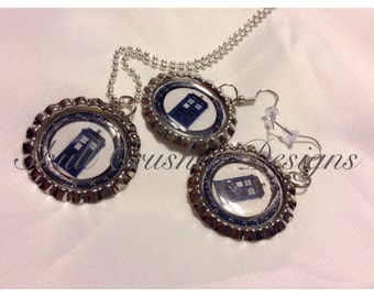 Doctor Who Bottlecap Jewelry Set