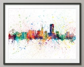 San Francisco Skyline, San Francisco California Cityscape Art Print (1959)