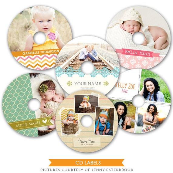 INSTANT DOWNLOAD - Cd/Dvd labels photoshop templates - Fabulous memories -  E483