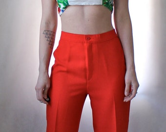 High Waist Red Trousers