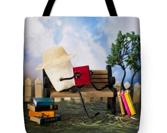 Tote Bag - Reading Marshmallow