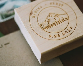 Custom Wood Engraved Stamps