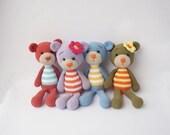 PDF Simple Bunny or Teddy  - Doll Crochet Toy,  DIY tutorial