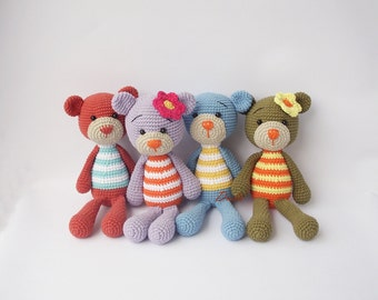 PDF Simple Bunny or Teddy  - Doll Crochet Toy,  DIY tutorial