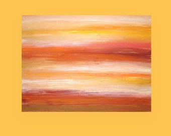 "Art and Collectibles Original Acrylic Abstract Painting on Canvas Titled: AUTUMN LIGHT 30x40x1.5"" by Ora Birenbaum"