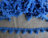 Pom Pom Trim 2-5/8 Yds Vintage Blue Cotton