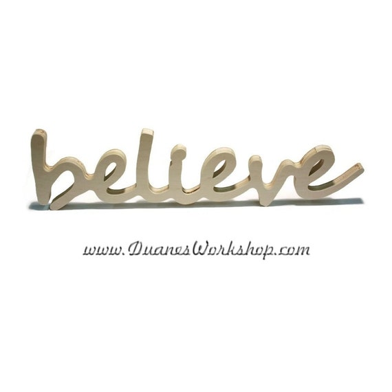believe Sign, DIY Wall hanging, Wooden believe sign, wooden letters, home decor, wood sign, Housewares, Wall Decor