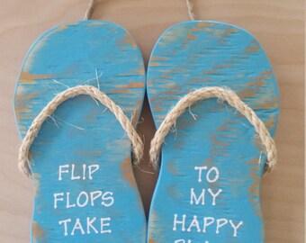 Handmade Wooden Flip Flop Sign