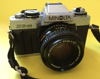 Minolta XGM with 50mm Rokkor Lens - Great for the Beginning Film Camera Photographer - Includes a Camera Bag