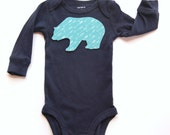 Bear Baby Bodysuit,  Woodland Bodysuit, Woodland Shirt
