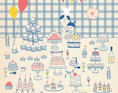 Happy birthday buffet