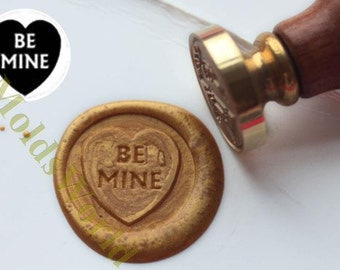 "S1321 Heart-shaped "" Be Mine "" Wax Seal Stamp , Sealing wax stamp, wax stamp, sealing stamp"