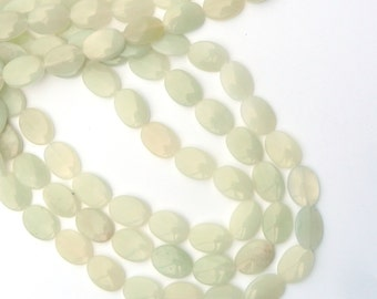Bead New Jade Oval Semi  Precious Gemstone Strand Natural Jewelry Making Supplies Craft Supply Beading Product  Chakra Reiki 55554
