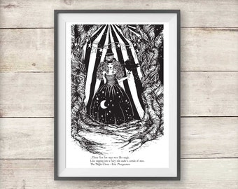 Celia Bowen Night Circus Print