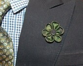 Clearance SaleThe New Yorker-Camo  Lapel Flower//Grosgrain Lapel Flower//Wedding//Boutonniere//Lapel Pin