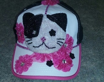 Adorable Kitty on a Ball Cap