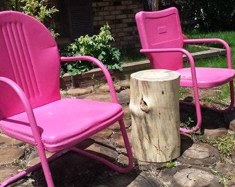 DIY Stump Table - finish your own stump stool, log end table, log table, log stool, cabin furniture, cabin decor, rustic decor