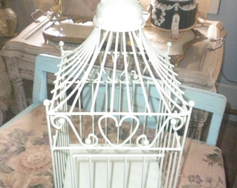 Charming Metal Vintage Bird Cage, Shabby Chic, French Country, Eclectic