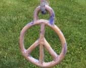 Hanging Ceramic Peace Sign