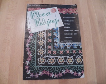 1949 Vintage Crocheted Flower Edgings Instruction Book
