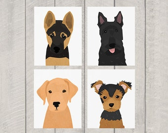 Puppy Dog Nursery Art Print Set